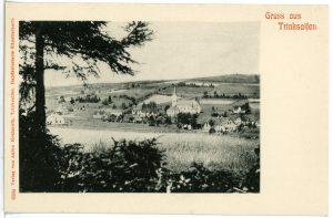 Hörspielprogramm: Alte Ansichtskarte: Blick auf den Ort Trinksaifen